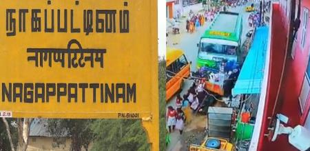 in nagapattinam mini bus accident peoples injured