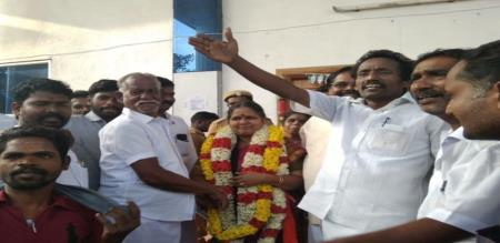 in nagapattinam janagi sinnathurai victory local body election