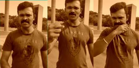 in rajiv gandhi memorial place naam tamilar tic tok video