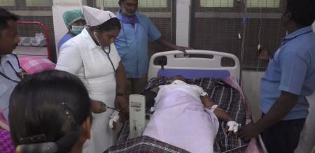 in namakkal wife try to murder police arrest husband
