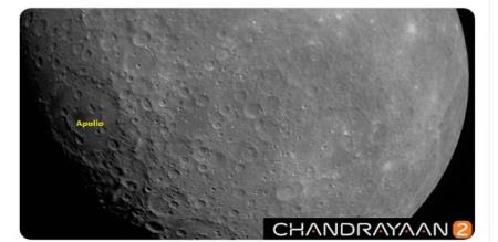 first Moon image captured by Chandrayaan2