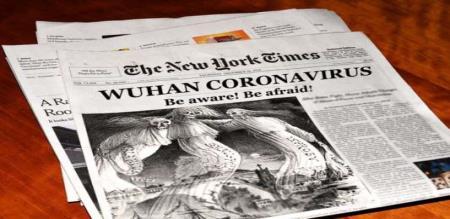 America media says about china virus godown