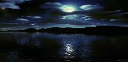 death went to the lake at night