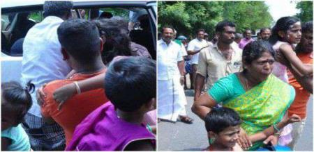 sengottaiyan minister helps to accident family in erode