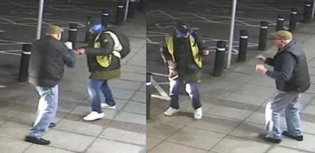 old man attack robber viral video