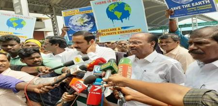 pmk and green motherland awareness program for Climate Emergency Campaign