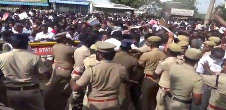 fight in vote counting center
