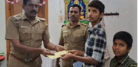 police helps to poor student who attempt suicide