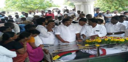 TN CM Palanisamy mourning to demise of purushothaman