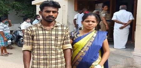 KALLAKURICHI YOUNGSTER MARRIED LOVE GIRL IN POLICE STATION