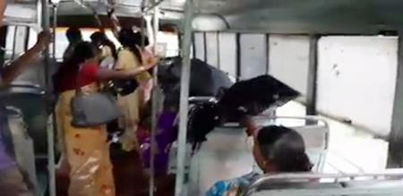 rain inside bus in kanyakumari