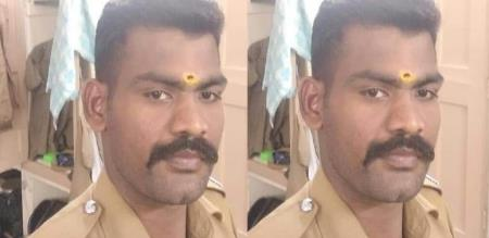 in Rajapalayam police attempt suicide due to long time skin infection