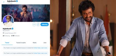 Rajinikanth twitter video deleted