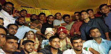 in bihar military man sister marriage complete 50 army men