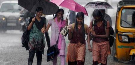 today holiday for school and college due to rain
