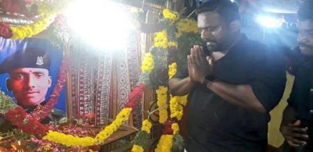 actor robo shankar give money for CRPF officer sivachandran family