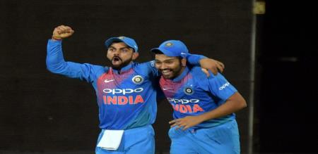 kholi and rohit sharma first two place in icc bastsman list