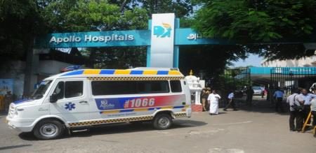 admk mla admitted in apollo hospital