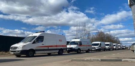 Russia corona virus patients wait to admit hospital more than 15 hours