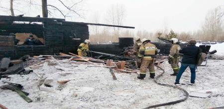 in Russia wooden house fire accident 11 peoples died
