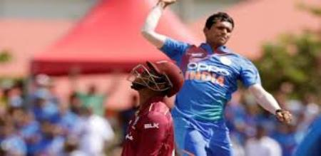navdeep saini get icc official warning and one demerit point