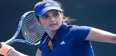 sania mirza won doubles pair tennis match