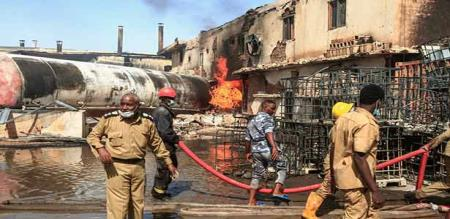 in sudan ceramic factory fire accident 24 workers died