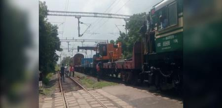 train accident for police in nagai