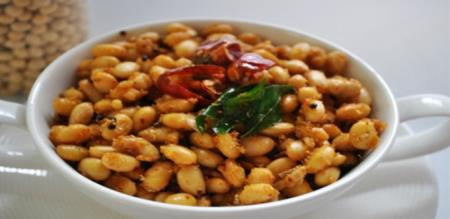 soya beans sundal preparation