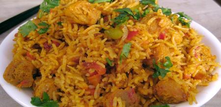 how to prepare soya rice in tamil
