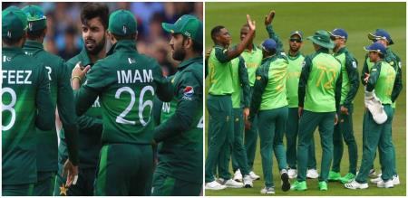 pakistani and south african teams  in the history of cricket.  Information inside