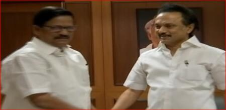 KS ALAGIRI MEETS STALIN