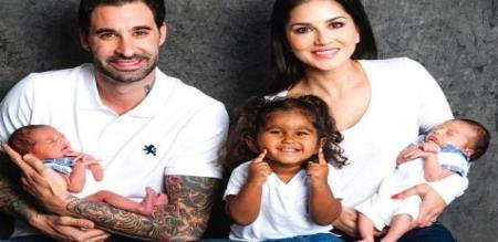 actress sunny leone family pic