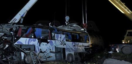 in Syria bus and truck accident peoples died