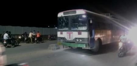 in telangana bus driver stolen and going to her native