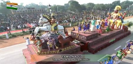 tamilnadu traditional god in republic day celebration