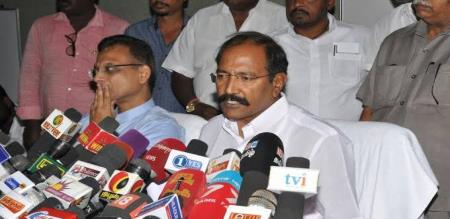 admk minister report to 2 news channel
