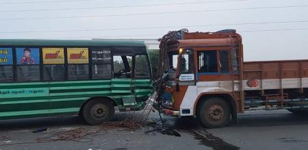 in thirupur bus accident peoples injured