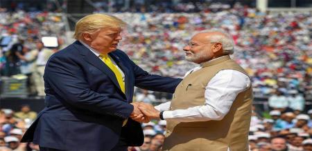 Donald Trump press meet after speech with improvement relationship with modi