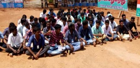 tamil nadu students starting protest against hydrocarbon plan
