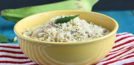 how to prepare vazhaikkai puttu