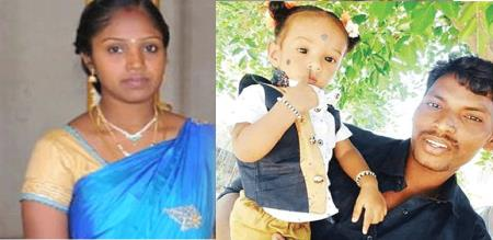 in vellore husband and baby killed by mother due to illegal affair