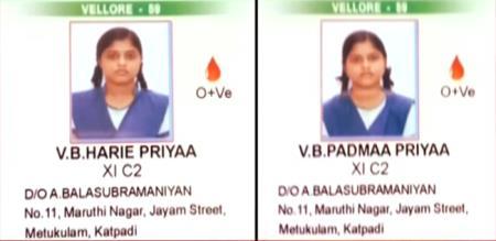 vellore twin sisters suicide police investigation report