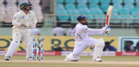 India declared second innings after speedy run