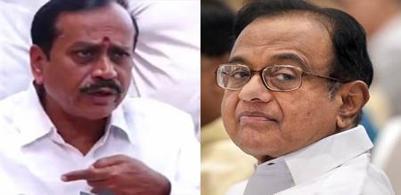 hraja attack congress chidambaram