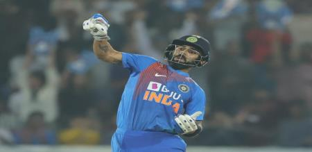 india set huge target to west indies in final T20I
