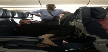 men stand in 6 hours for wife in flight