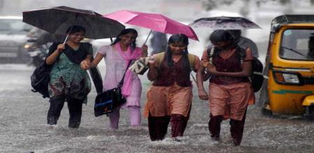 four district schools holiday for heavy rain