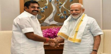 today cm palanisami video confrence with modi